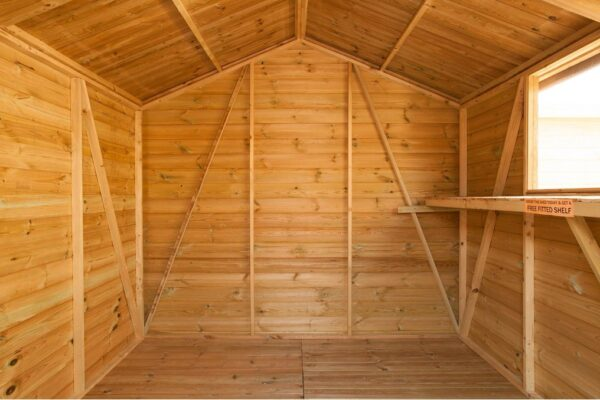Apex shed diagonal bracing