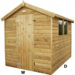 4ft (W) x 4ft (D) Apex Shed