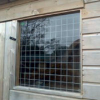 Galvanised Security Grill