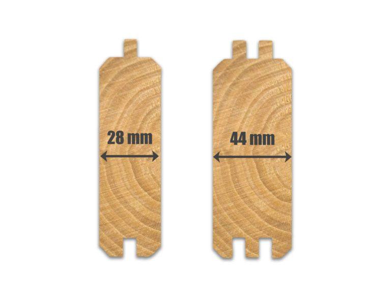 28mm & 44mm log cabin wall profiles
