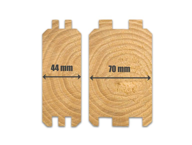 44mm & 70mm log cabin wall profiles