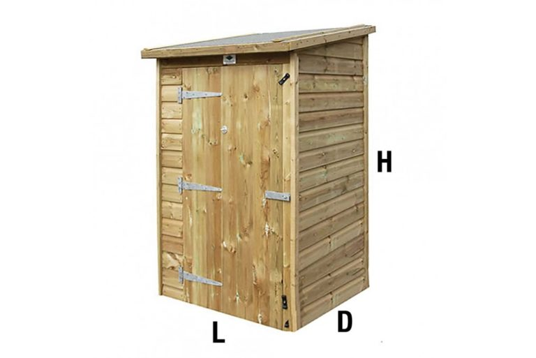 Mini Store Shed with dimensions