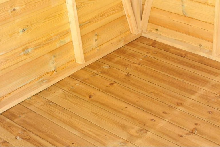 Mini Store Shed tongue and groove floor
