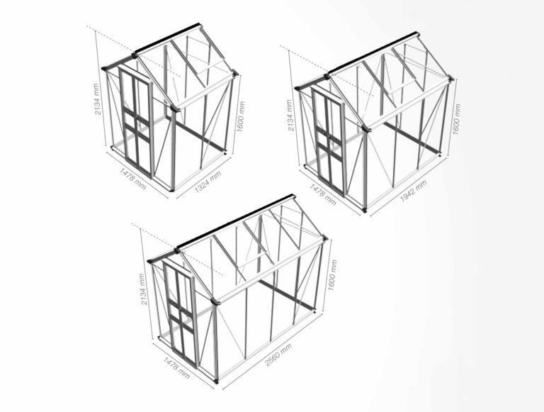 Eden Birdlip Greenhouse Diagrams