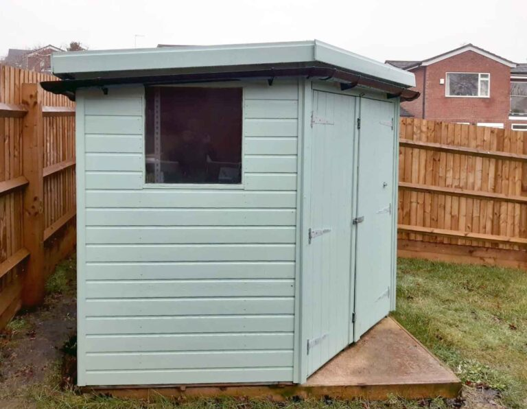 Painted Pent Shed