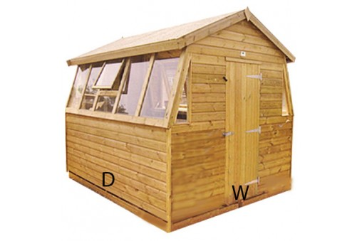 Double Potting Shed pressure treated