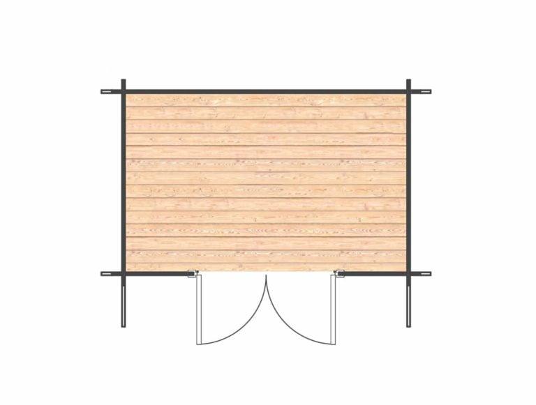 Keymer Log Cabin - Floor plan