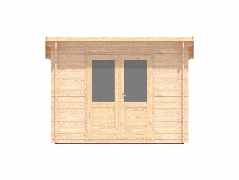 Keymer Log Cabin - Front view