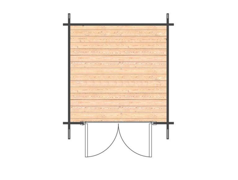 Newenden Log Cabin Floorplan