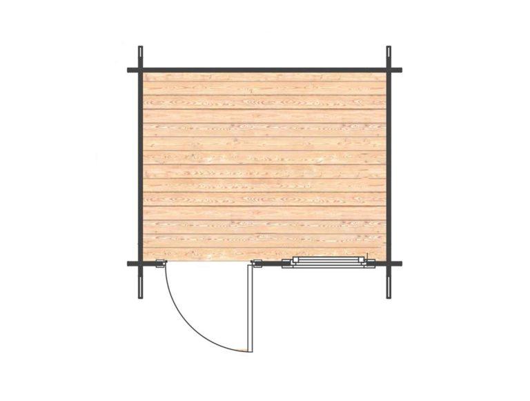 Olympian Bronze Log Cabin Floor Plan