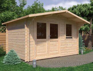 Olympian Silver Log Cabin