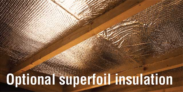 Optional Superfoil insulation