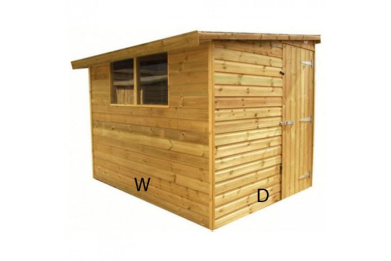 Reverse Pent Shed Dimensions