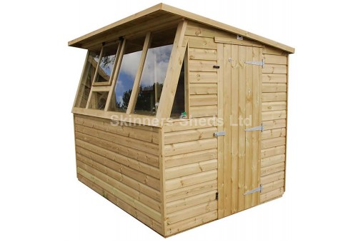 Single Potting Shed pressure treated