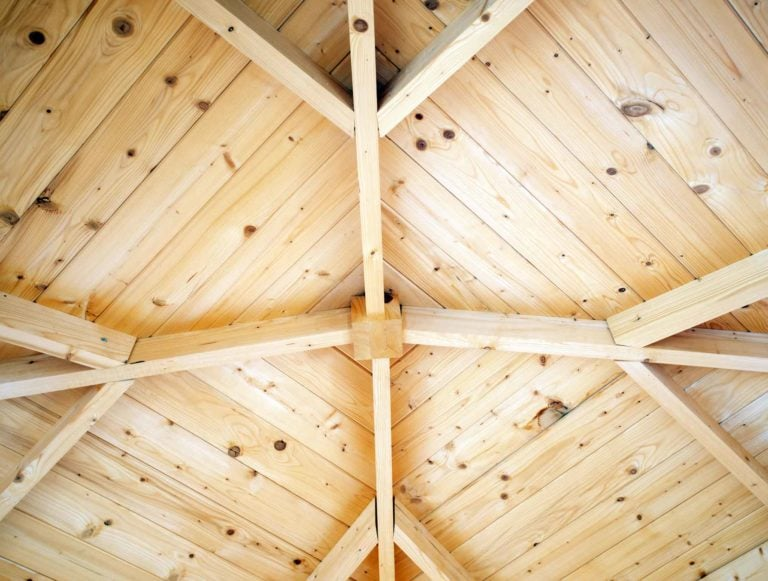 19mm tongue & groove roof supported on strong purlin frame