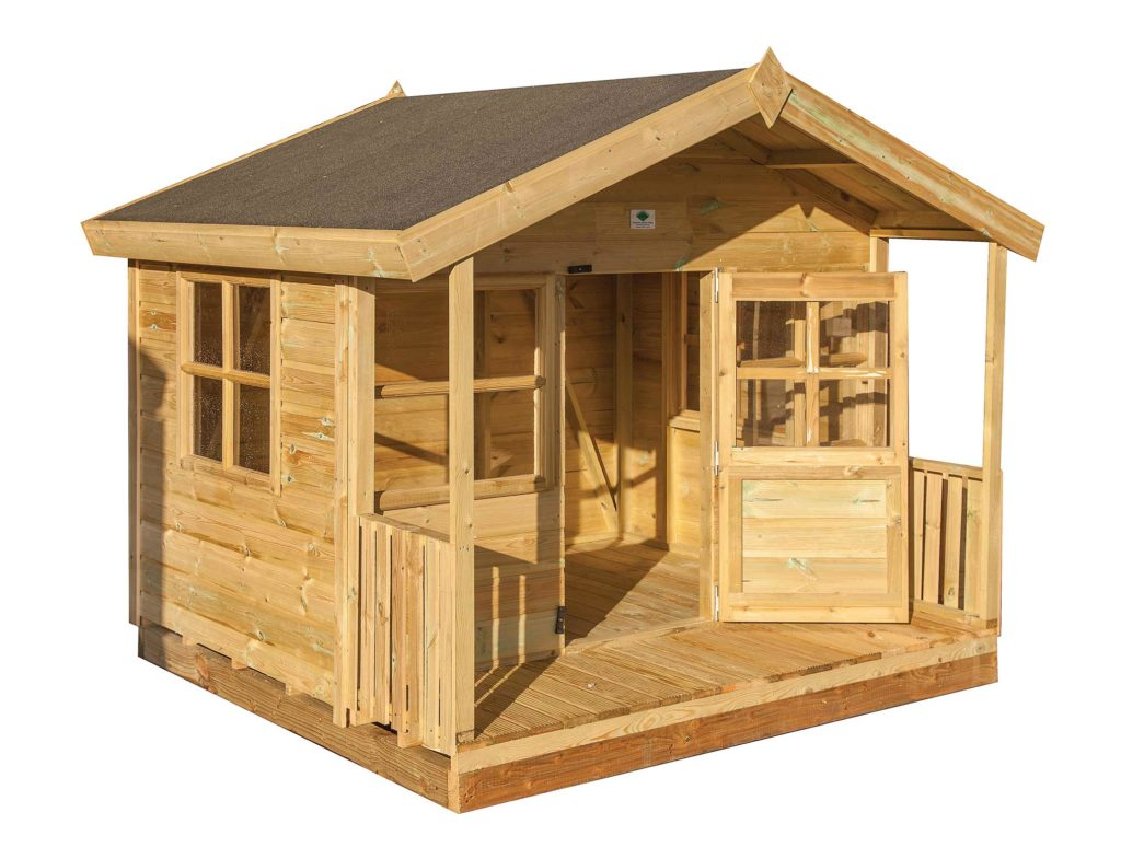 8ft (W) x 8ft (D) + 18″ Playhouse with Veranda