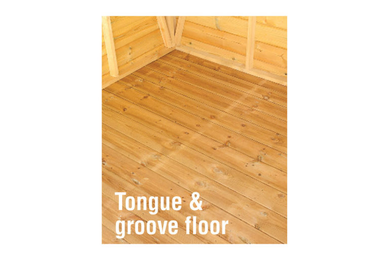 Tongue and groove apex shed floor