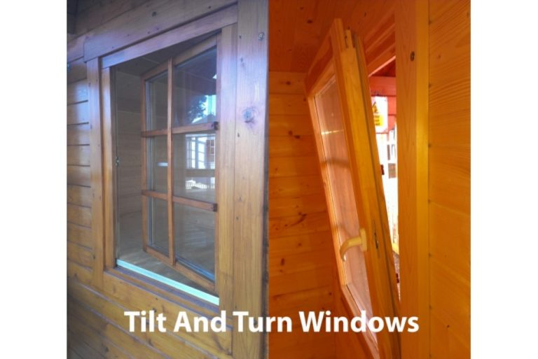 Toughened glass tilt and turn windows
