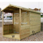 6ft (W) x 8ft (D) Beach Hut with Veranda