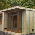 8ft (W) x 8ft (D) Contemporary Garden Room