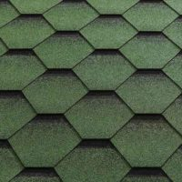 Green Felt Shingle Tiles (Fitted)
