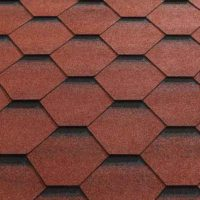 Red Felt Shingle Tiles (Fitted)