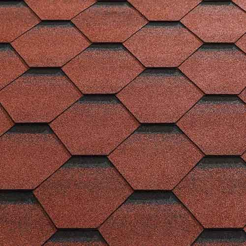 Red Felt Shingle Tiles