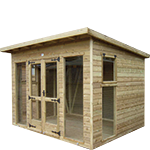 8ft (W) x 8ft (D) Pent Studio Summerhouse
