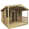 Loglap Cabin Summerhouse with Veranda