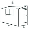 Configuration B (Reverse Pent Shed)