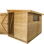 4ft (W) x 4ft (D) Reverse Pent Shed