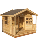 6ft (W) x 4ft (D) + 18″ Playhouse with Veranda