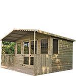 8ft (W) x 6ft (D) Traditional Summerhouse with veranda