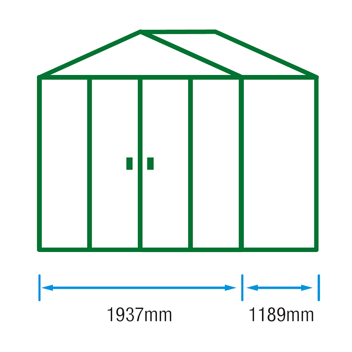 6x4 Metal Shed