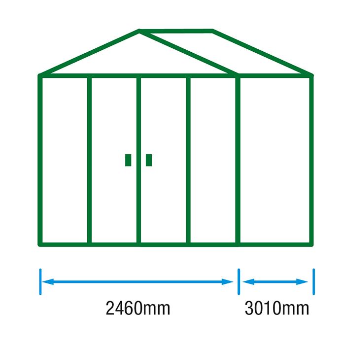8x10 Metal Shed