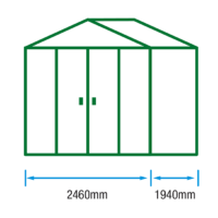 8ft (W) x 6ft (D) Metal Shed