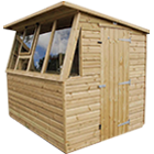 6ft (W) x 4ft (D) Single Potting Shed