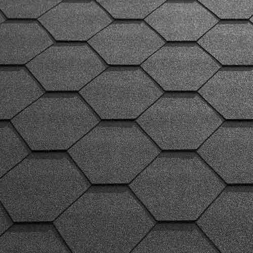Black Felt Shingle Tiles (Fitted)
