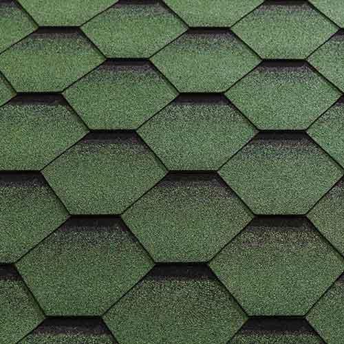 Green Felt Shingle Tiles (Fitted)