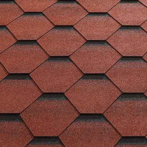 Red Felt Shingle Tiles (Fitted)