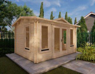 Low Clockhouse Pavilion Log Cabin