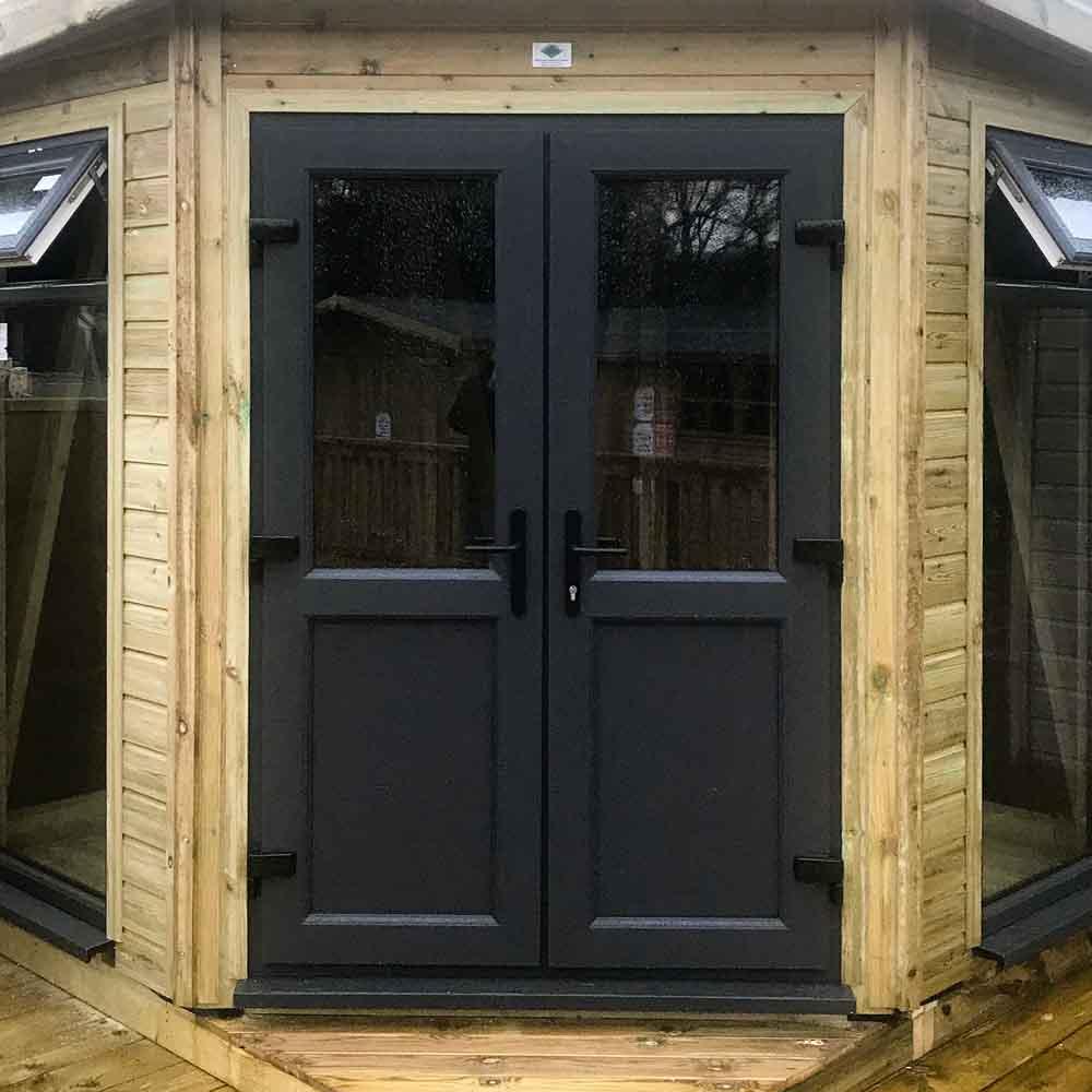 Half-glazed doors