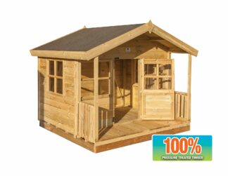 Wendyhouse with a veranda